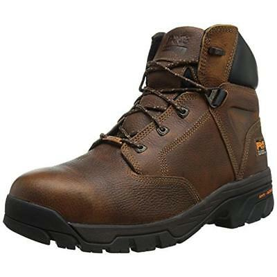 Timberland 4911 Mens Helix 6'' Brown Leather Work Boots Shoes 11 Medium (D) BHFO