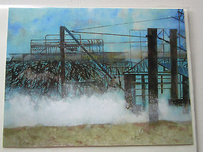 HANDMADE Blank CARDS x 2 from Original Painting WEST PIER BRIGHTON with envelope