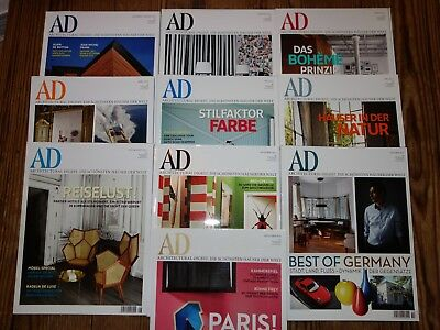 AD Architectural Digest Jahrgang 2011 10 Magazine TOP