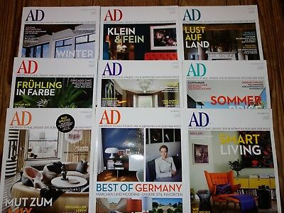 AD Architectural Digest Jahrgang 2012 9 Magazine TOP