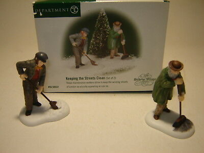 Dept 56 Dickens Village - Keeping the Street Clean