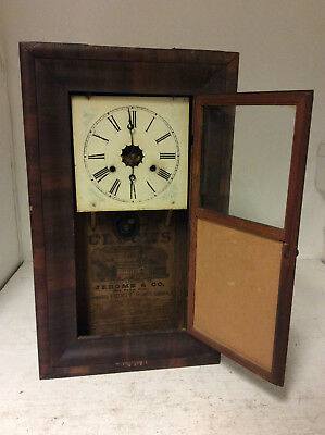 Vintage American Clocks Jerome & Co Wall Clock - USED - NEEDS ATTENTION