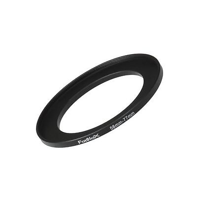 Fotodiox Metal Step Up Ring Filter Adapter Anodized Black Aluminum 58mm-77mm ...