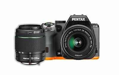 Pentax K-S2 20MP Wi-Fi Enabled Weatherized SLR with 50-200mm Lens Kit (Black/...