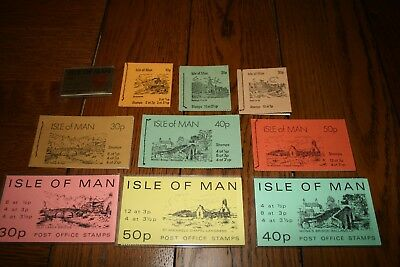 10 Isle of Man Stamp Booklets containing 126 MNH Stamps Total Face Value £3.15