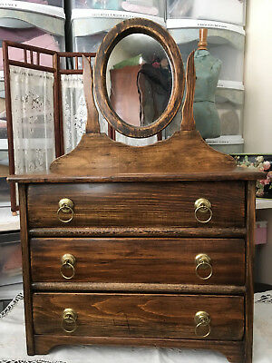 Antique Wood Doll Dresser