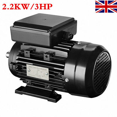 SINGLE 2.2 KW/3 HP Single Phase Electric Motor 240V 2800 RPM 2.2KW/3HP 2 Pole UK