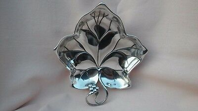 Vintage Rare Wmf Of Germany A Small Metal Leaf Design Bon Bon Tray In Good Cond