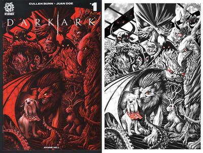 Dark Ark # 1 Set by Mike Rooth Maxwell Variant NM+ Cover A & B