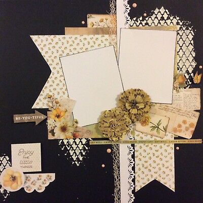 handmade scrapbook page 12 X 12 Enjoy The Little Things Themed Layout