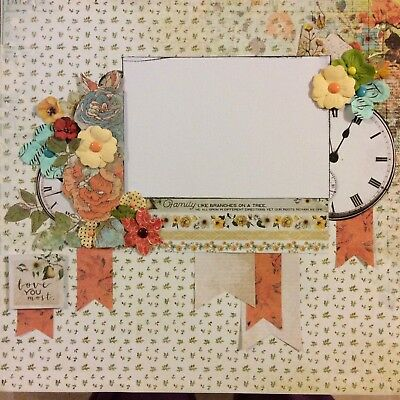 handmade scrapbook page 12 X 12 Family Themed Layout