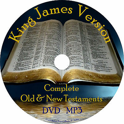 Bible - King James Version Audio Bible, Complete KJV All 66 Books on 1 MP3 DVD