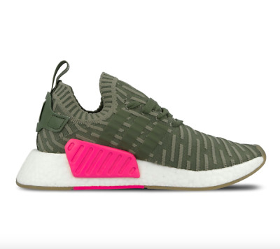 wholesale dealer 4d7bb 229b9 ADIDAS ORIGINALS WOMEN'S NMD_R2 Primeknit in Olive/Pink BY9953 BNIB