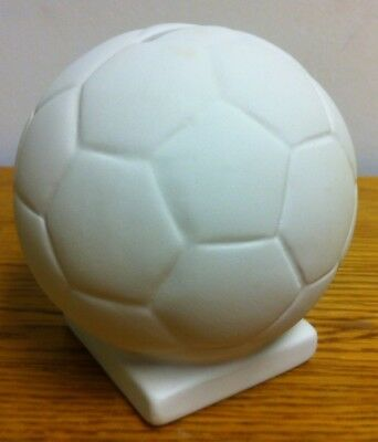 ceramic bisque - brand new ready to paint ceramic football money box
