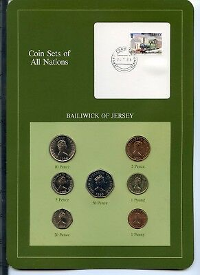 Coin Sets of All Nations - Bailwick of Jersey (7 Coin Set)
