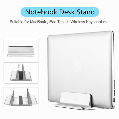 Aluminum Vertical Laptop Stand Desktop Space-saving Holder For MacBook Notebooks