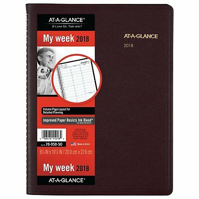 AT-A-GLANCE Weekly App/Planner, Jan 18-Jan 2019,8-1/4 x 10-7/8, 70-950-50