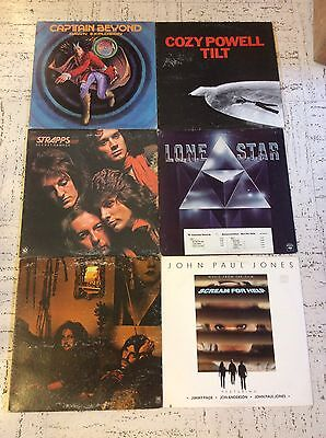 Lot Of 6 LPs John Paul Jones, Cozy Powell, Captain Beyond, Hookfoot, Lone Star