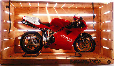 "Ducati 916 in a shipping crate HQ Poster Print 44"" x 75"""