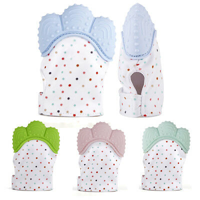 Silicone Baby Mitt Teething Mitten Candy Wrapper Sound Teether Teething Glove