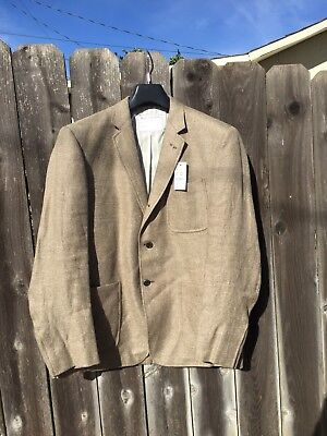 NWT$900 Brooks Brothers Black Fleece Thom Browne Linen Wool Blazer Tan Sz BB3 42