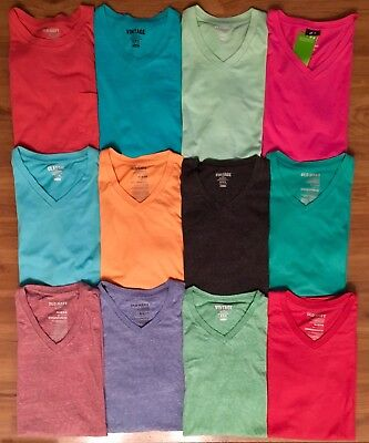Lot of 12 Mens Size Medium Solid T-Shirts, Old Navy & H&M - Assortment of Colors