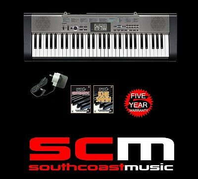 CASIO CTK1300 61 KEY PORTABLE MUSIC KEYBOARD & AC ADAPTOR & 2 DVDs NEW +WARRANTY