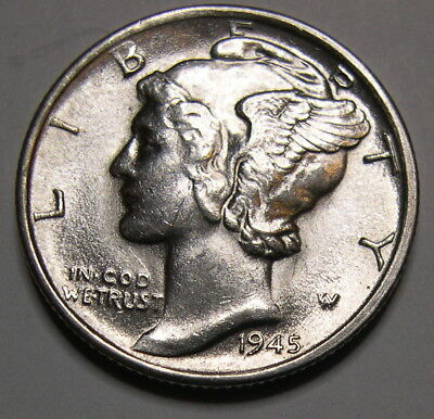 1945-S Micro S Mercury Dime HIGH GRADE