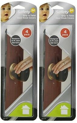 8 Total Grip n Twist Door Knob Covers Grey Baby Child Safety 1st First Home Kids