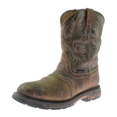 Ariat 6224 Mens Workhog Tan Leather Western Work Boots Shoes 12 Medium (D) BHFO