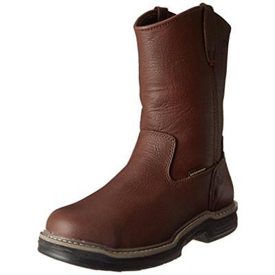 Wolverine 6666 Mens Buccaneer Brown Leather Work Boots Shoes 9.5 Medium (D) BHFO