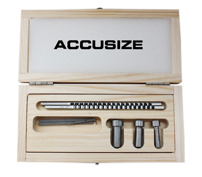 Accusize - No.60 Metric HSS Keyway Broach Sets in Fitted Box, #5100-0060
