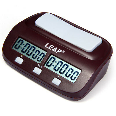 LEAP PQ9907S Digital Chess Clock I-go Count Up Down Timer for Home School