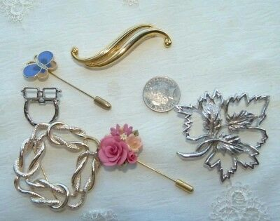 Jewellery  Group Of Six Mixed Brooches Or Pins New And/or Excellent Order 854