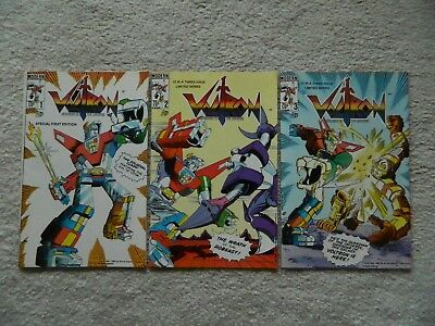 Voltron Defender Of The Universe COMPLETE SET #1 - #3 VF/ 1985 / ONE OWNER