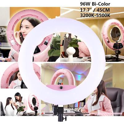 "Ring Light Diva Light Continuous Lighting 17.7"" LED 96W Dimmable US Plug Pink"