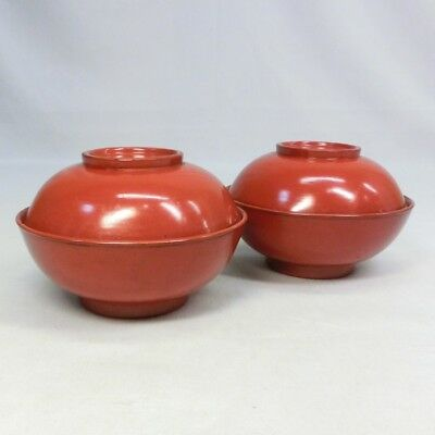 B921: Japanese old lacquered covered bowl of NEGORO with good atmosphere.