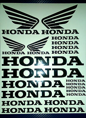 Honda and  Honda Wings Tank Helmet Motorcycle Van Car Vinyl Decals Stickers set