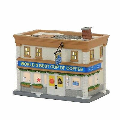Department 56 Elf Village World's Best Cup Of Coffee Shop