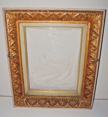 "Vintage Antique Ornate Gold Gilt Wooden Painting Picture Frame 31""X26"" RARE 20Lb"