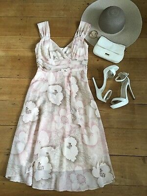 Target Floral Dress Cream White Pink Floral Size 8 New with tags Cocktail Party