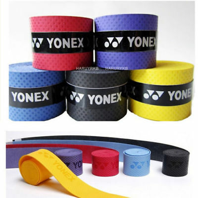 10 x  Absorb sweat stretchy Badminton Tennis Squash Racquet Band Grip Tape cdj