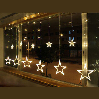 led lichterkette stern lichtervorhang fenster baum. Black Bedroom Furniture Sets. Home Design Ideas