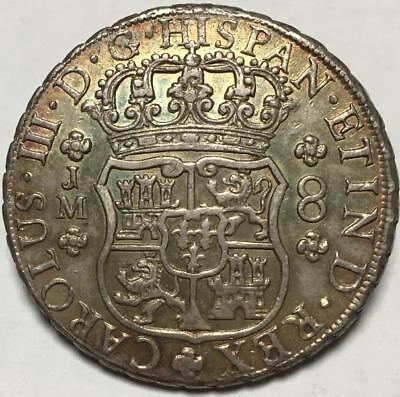 1770 Carolus 111 Pillar Dollar..8 Reales..lima Peru..dot Over L..scarce.