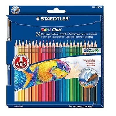 Noris Club Aquarell Watercolour Pencils with Paint Brush - Pack of 24 144 10NC24
