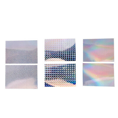 6Pcs 3 Types Fishing Lure Tape Waterproof Holographic Adhesive Tape Scale