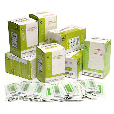 500pcs/box Acupuncture Disposable Needle Sterile Needles one time Use 13-40mm