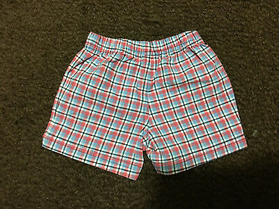 Cater's 6 Months Red, White, and Blue Plaid Shorts