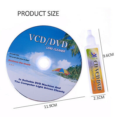DVD VCD CD CD-Rom Lens Cleaner Rom Player Cleaning TV Game Wet/Dry & Music