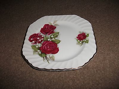 Swinnertons, England Tea Plate-Royal Wessex-White Ironstone-Vgc-14 Cm Square